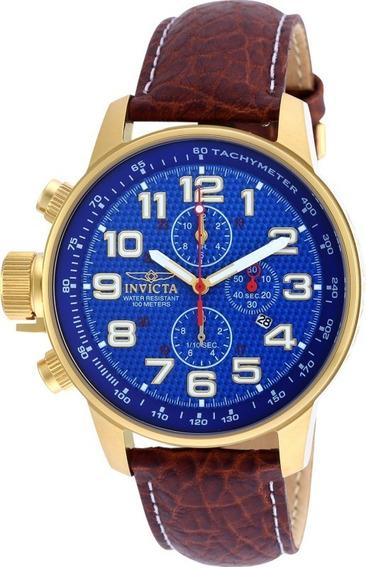 Relógio Invicta Force 90067 Couro Marrom Envio 24 Hs