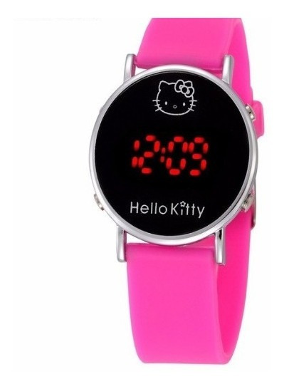 Relógio Infantil Feminino Hello Kitty Led Super Barato
