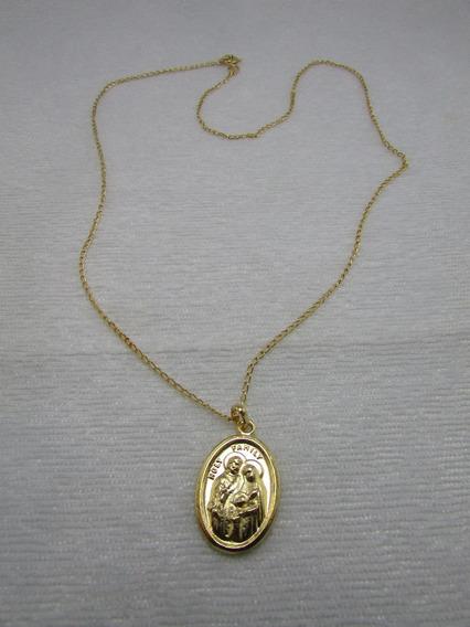 Corrente Com Medalha Sagrada Familia X Espirito Santo