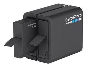 Carregador Duplo Gopro Ahbbp-401 + Batería P/ Hero 4 Silv/bk