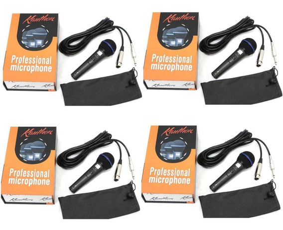 Microfone Kauthon Profissional Vocal Instrumento 04 Unidades