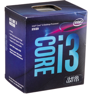Procesador Intel Cpu Core I3 8100 3.6 Ghz/ Boleta