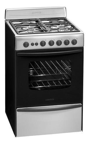 Cocina A Gas Longvie 13501xf 56cm Inox Cajón Parrilla