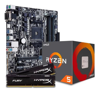 Combo Actualización Pc Gamer Amd Ryzen 5 2400g Mother A320m Con Ddr4 8gb 2400mhz