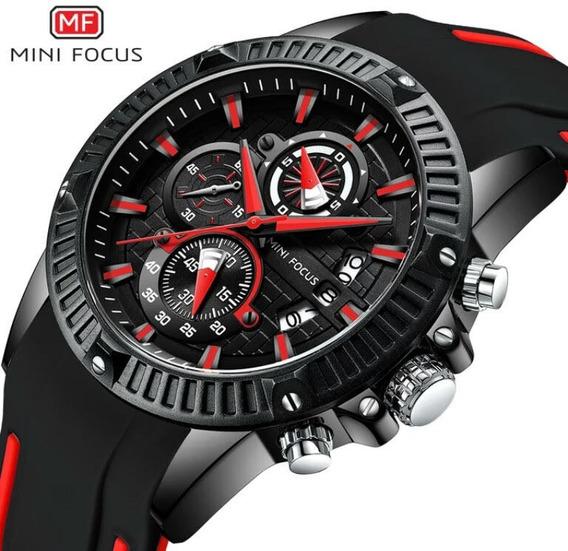 Relógio Masculino Pulseira De Silicone Mini Focus P/ Entrega