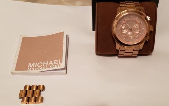 Relógio Michael Kors Mk8096 Rose Dourado Original