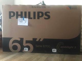 Smart Tv Philips 65 Led 4k Uhd Ambilight 65pud6794/77