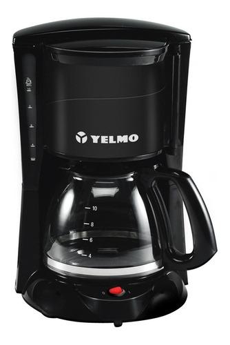 Imagen 1 de 2 de Cafetera Yelmo CA-7108 semi automático negra de filtro 220V