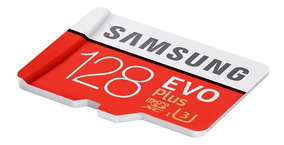 Cartão Samsung Micro Sd Sdxc Evo Plus 128gb 100mb/s Uhs-3 U3