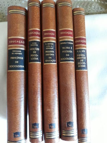 Coleção Educação 5 Volms Antigos Bom Estado-leia Descrição