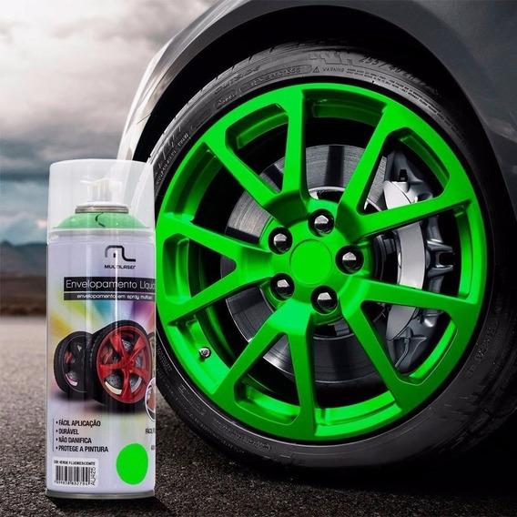 Envelopamento Spray Tinta Verde 400ml Multilaser Liquido