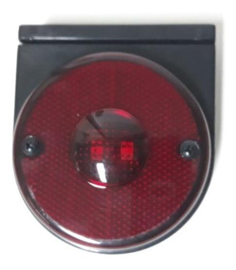 Lanterna Lateral Vermelha Led Fio Suporte Preto
