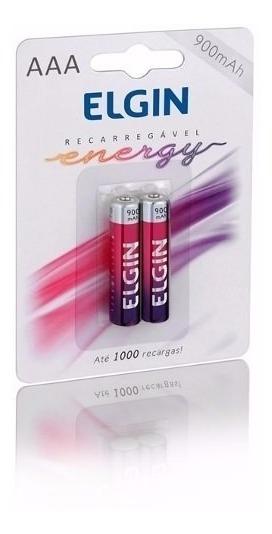 Pilhas Aaa Recarregável Energy C/2 900mah 1,2v - Elgin