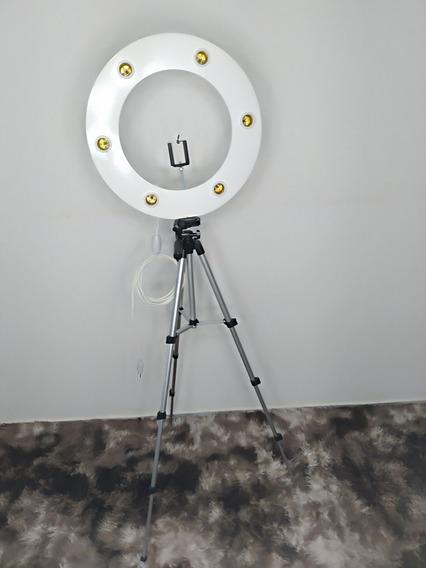 Ringlight Com 6 Lampadas Inclusas + Tripé