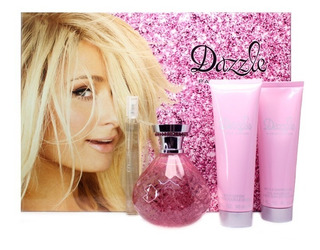 Set 4 Piezas Dazzle Para Mujer De Paris Hilton 100% Original