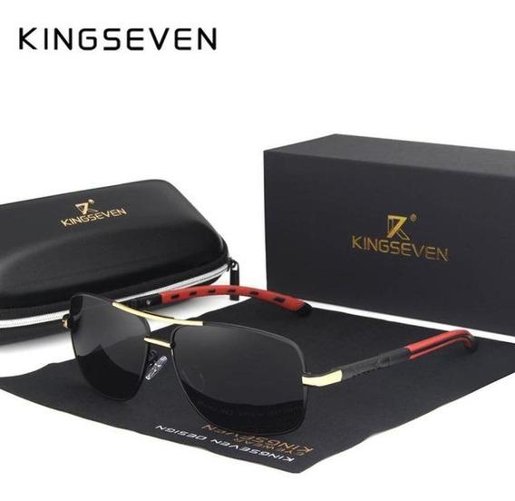 Óculos De Sol Kingseven Masculino N724 Uv400 Polarizado
