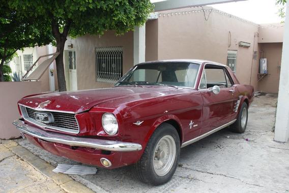 Ford Mustang Clasico Modelo 1966 Col. Rojo
