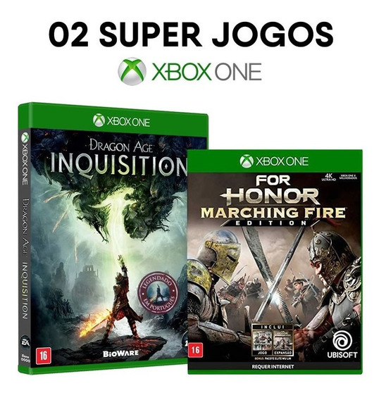 Dragon Age Inquisition + For Honor M. Fire Xbox One Novos