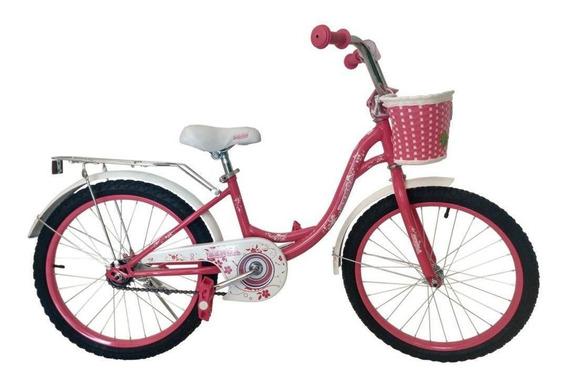 Bicicleta Benoá Aro 20 Flores Com Cestinho
