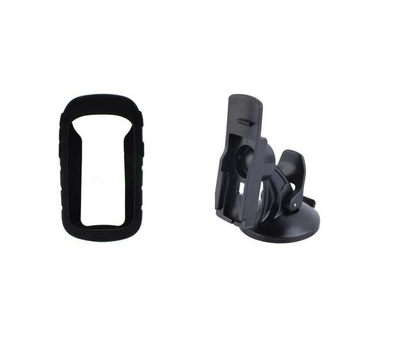 Capa Silicone+ Película +suporte Veicular Gps Garmin Etrex