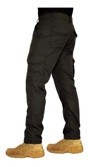 Calça Tática Militar Cargo Masculina Poly 6 Bolsos Reforçada