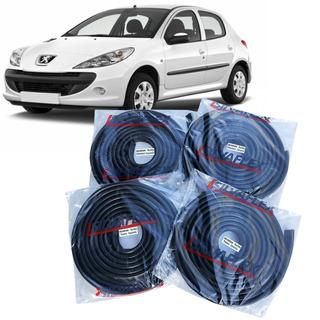 Burletes Para Las 4 Puertas Peugeot 206 Y 207 5 Ptas (kit 4 Unidades) Silvaflex