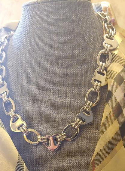 Set Collar Y Aretes Cromados Juicy Couture; Modelo Juicy