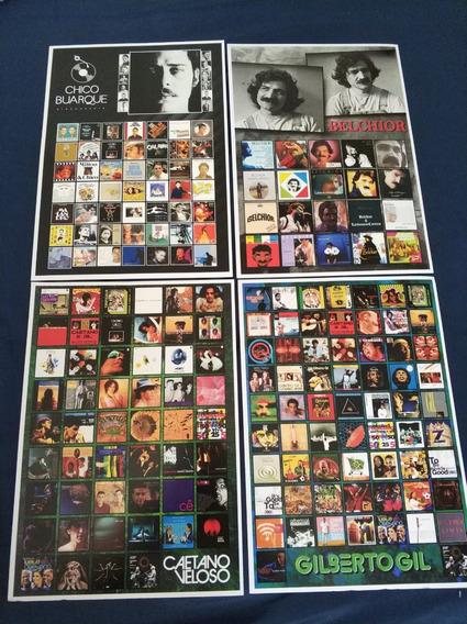 Poster Lote Belchior Gilberto Gil Caetano Chico Buarque Mpb