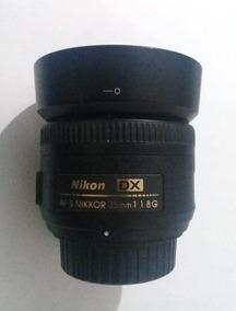 Lente Usada Nikon Af-s Nikkor 35mm F/ 1.8 G Dx Oportunidade