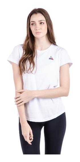 Remera Basic Slim Blanco Mujer Le Coq Sportif