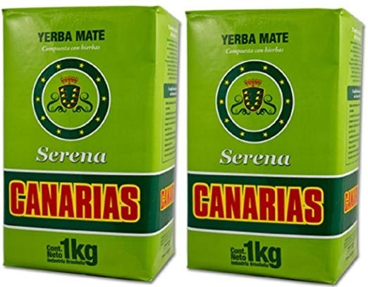 Canarias Serena Yerba Mate 1kg 2 Pack