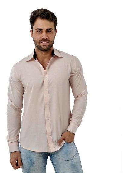 Kit 3 Camisa Camiseta Slim Manga Longa Luxo Promoção Luxo