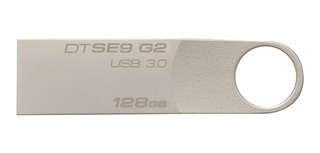 Memoria USB Kingston DataTraveler SE9 G2 128GB plateado