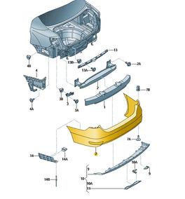 Cobertura Do Parachoque C/ Trat Superficial - 5c6807421gru