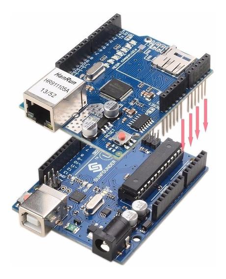 Kit Arduino Uno R3 + Ethernet Shield W5100 + Cabo Usb