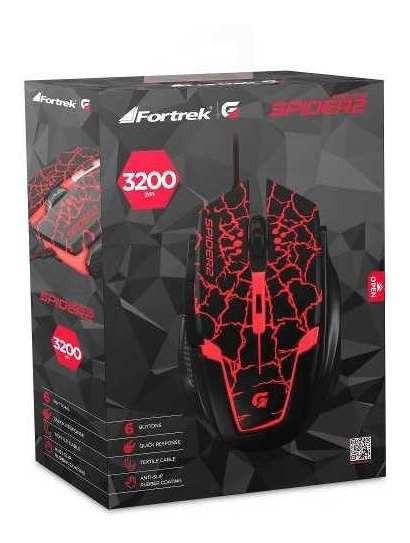 Mouse Gamer Usb 3200dpi Spider 2 Om705 Fortrek