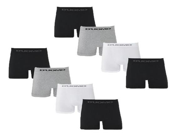 Kit Com 8 Cuecas Boxer Sem Costura - Duomo