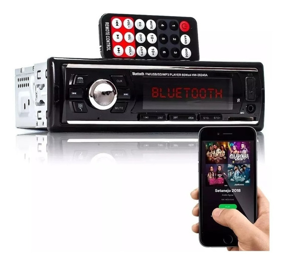 Radio Automotivo Mp3 Bluetooth Usb Sd Controle - 26249a