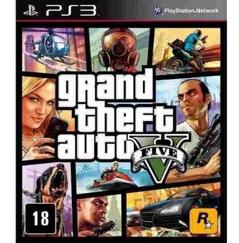 Grand Theft Auto V Gta V Ps3 Mídia Física Lacrado