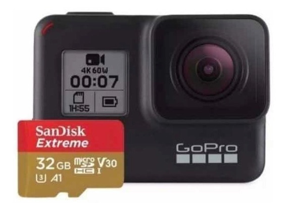 Câmera Digital Gopro Hero 7 Black 12mp 4k +sd32gb Original