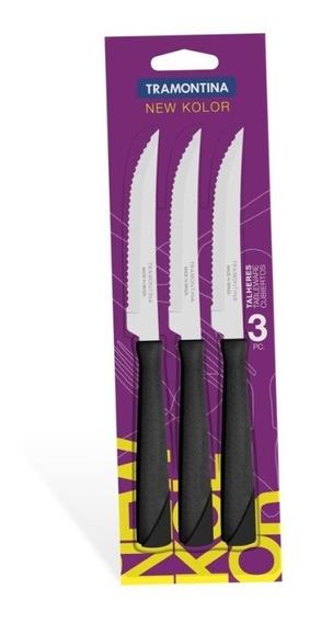 Set X3 Cuchillos New Kolor Mango Plástico Tramontina