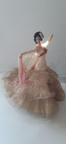 Muñeca Bailarina Española Marin Chiclana Con Faltantes 32 Cm