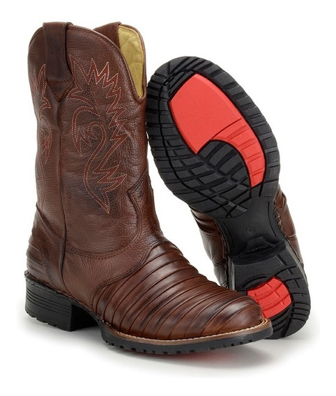 Bota Texana Country Masculina Escamada Tatu Boots Botina 902