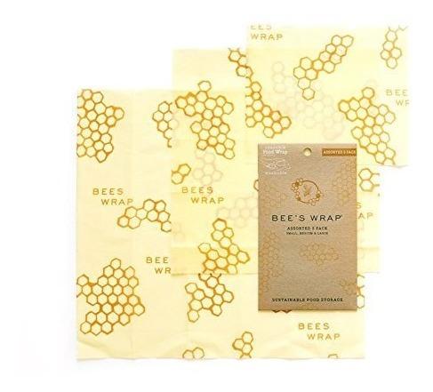 Imagen 1 de 5 de Bee's Wrap 3 Piezas De Almacenamiento De Alimentos Reutiliza