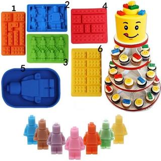 Kit Com 2 Formas De Silicone Lego Bonecos