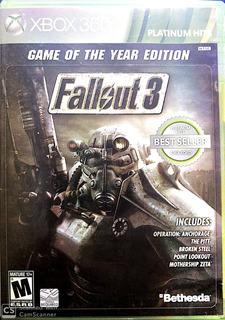 Fallout 3 Edición Juego Del Año - Xbox 360