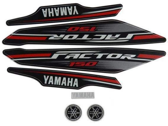 Faixas / Kit Adesivos Yamaha Factor 150 2017 Preta
