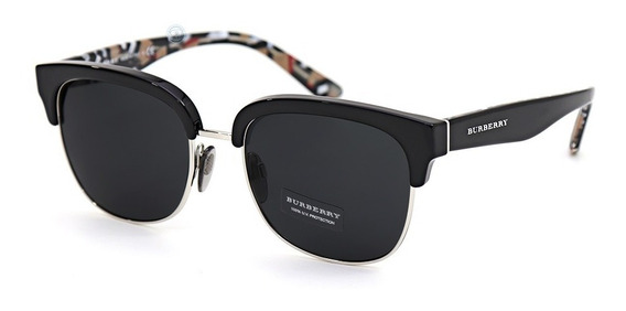 Lentes Burberry Be4272 373587 Black Silver Gray