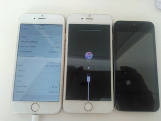 Lote 3 Iphones 16 E 64 Gb