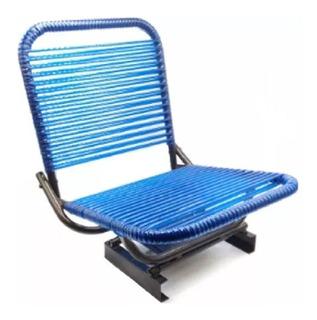 Cadeira Fio Para Barco Canoa Giratória C/ Encosto Dobrável